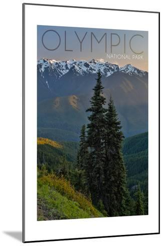 Olympic National Park, Washington - Hurricane Ridge-Lantern Press-Mounted Art Print