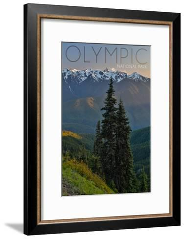 Olympic National Park, Washington - Hurricane Ridge-Lantern Press-Framed Art Print