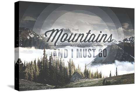 John Muir - the Mountains are Calling-Lantern Press-Stretched Canvas Print
