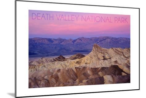 Death Valley National Park - Zabriskie Point and Sunset-Lantern Press-Mounted Art Print