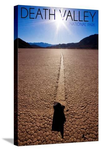 Death Valley National Park - Racetrack at Day-Lantern Press-Stretched Canvas Print
