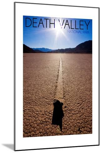 Death Valley National Park - Racetrack at Day-Lantern Press-Mounted Art Print