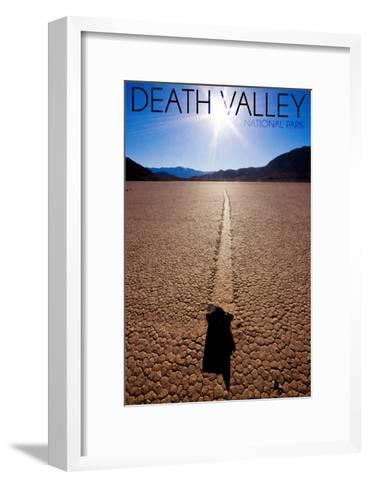 Death Valley National Park - Racetrack at Day-Lantern Press-Framed Art Print