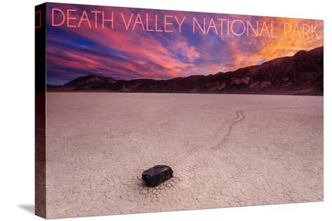 Death Valley National Park - Racetrack at Sunset-Lantern Press-Stretched Canvas Print