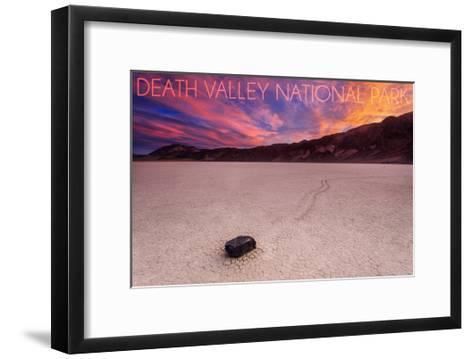 Death Valley National Park - Racetrack at Sunset-Lantern Press-Framed Art Print