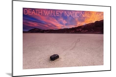 Death Valley National Park - Racetrack at Sunset-Lantern Press-Mounted Art Print