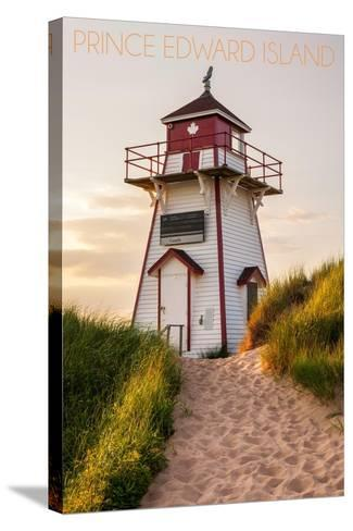 Prince Edward Island - Covehead Lighthouse and Dune-Lantern Press-Stretched Canvas Print