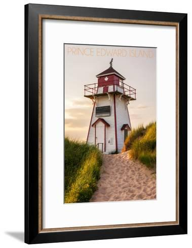 Prince Edward Island - Covehead Lighthouse and Dune-Lantern Press-Framed Art Print