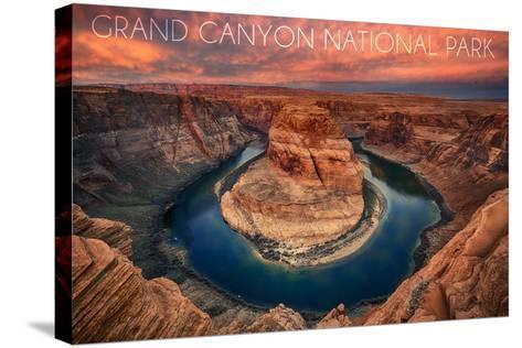 Grand Canyon National Park - Horseshoe Bend-Lantern Press-Stretched Canvas Print