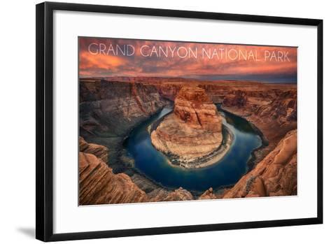 Grand Canyon National Park - Horseshoe Bend-Lantern Press-Framed Art Print