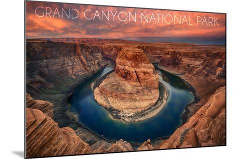 Grand Canyon National Park - Horseshoe Bend-Lantern Press-Mounted Art Print