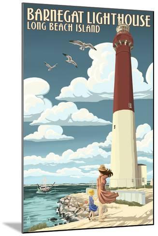 Long Beach Island - Barnegat Lighthouse-Lantern Press-Mounted Art Print