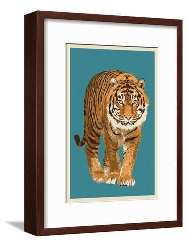 Tiger - Letterpress-Lantern Press-Framed Art Print