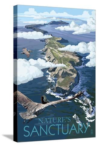 Nature's Sactuary - National Park WPA Sentiment-Lantern Press-Stretched Canvas Print