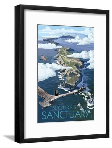 Nature's Sactuary - National Park WPA Sentiment-Lantern Press-Framed Art Print