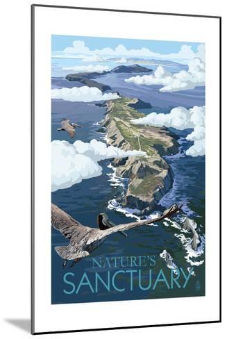 Nature's Sactuary - National Park WPA Sentiment-Lantern Press-Mounted Art Print