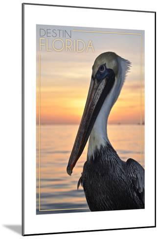 Destin, Florida - Pelican-Lantern Press-Mounted Art Print