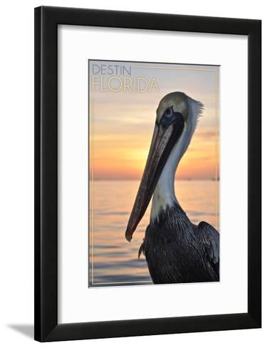 Destin, Florida - Pelican-Lantern Press-Framed Art Print