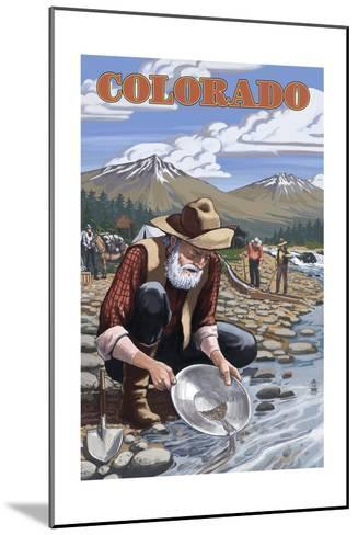 Colorado - Gold Panner-Lantern Press-Mounted Art Print