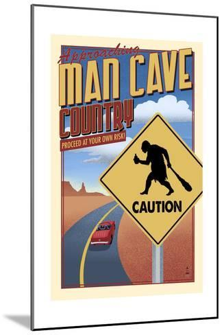 Man Cave Country-Lantern Press-Mounted Art Print
