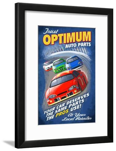 Race Track - Vintage Sign-Lantern Press-Framed Art Print