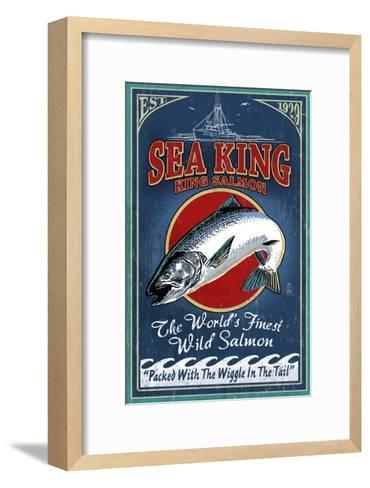 Salmon - Vintage Sign-Lantern Press-Framed Art Print