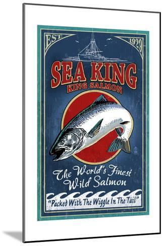 Salmon - Vintage Sign-Lantern Press-Mounted Art Print