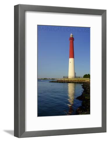Barnegat Lighthouse Close Up-Lantern Press-Framed Art Print