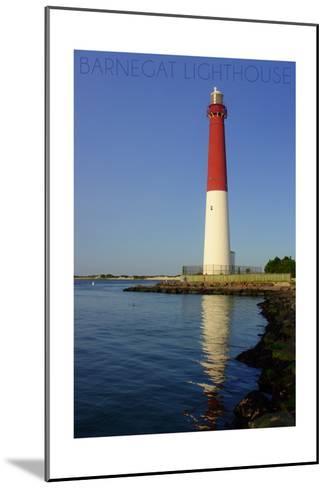Barnegat Lighthouse Close Up-Lantern Press-Mounted Art Print