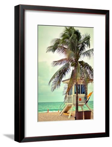 Lifeguard Shack and Palm-Lantern Press-Framed Art Print
