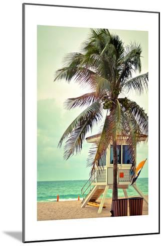 Lifeguard Shack and Palm-Lantern Press-Mounted Art Print