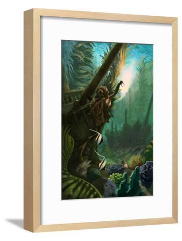Shipwreck of the Sea Witch-Lantern Press-Framed Art Print