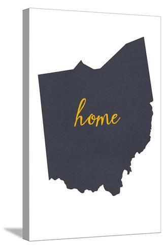 Ohio - Home State - White-Lantern Press-Stretched Canvas Print
