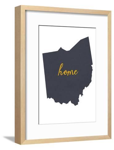Ohio - Home State - White-Lantern Press-Framed Art Print