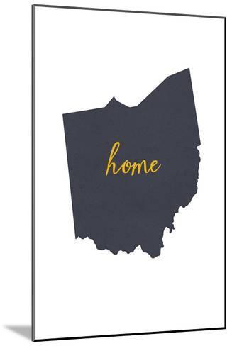 Ohio - Home State - White-Lantern Press-Mounted Art Print