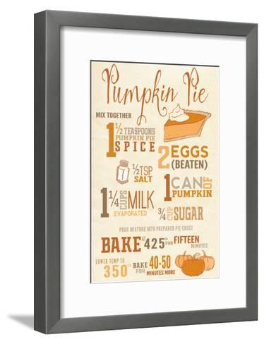 Pumpkin Pie Recipe-Lantern Press-Framed Art Print
