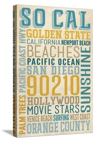 Southern California-Lantern Press-Stretched Canvas Print