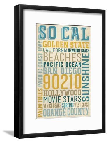 Southern California-Lantern Press-Framed Art Print