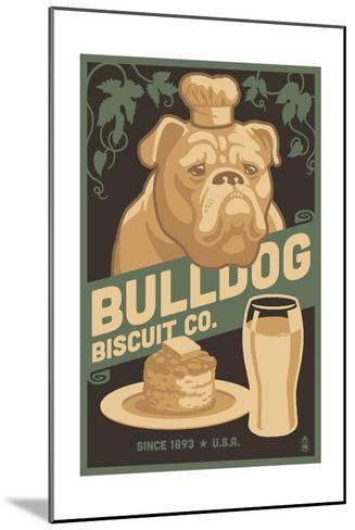 Bulldog - Retro Bisquit Ad-Lantern Press-Mounted Art Print