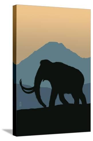 Woolly Mammoth-Lantern Press-Stretched Canvas Print