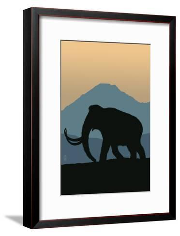 Woolly Mammoth-Lantern Press-Framed Art Print