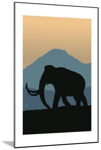 Woolly Mammoth-Lantern Press-Mounted Art Print
