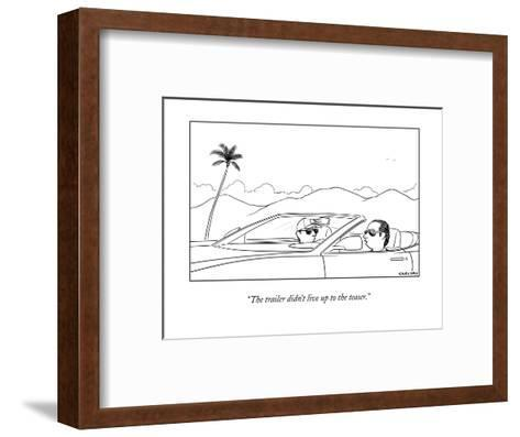 New Yorker Cartoon-Alex Gregory-Framed Art Print