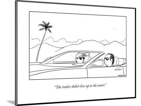 New Yorker Cartoon-Alex Gregory-Mounted Premium Giclee Print