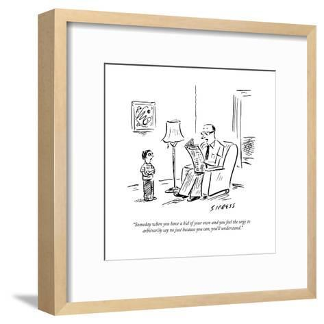 New Yorker Cartoon-David Sipress-Framed Art Print
