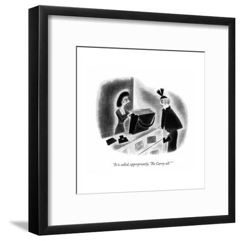 New Yorker Cartoon-Richard Taylor-Framed Art Print
