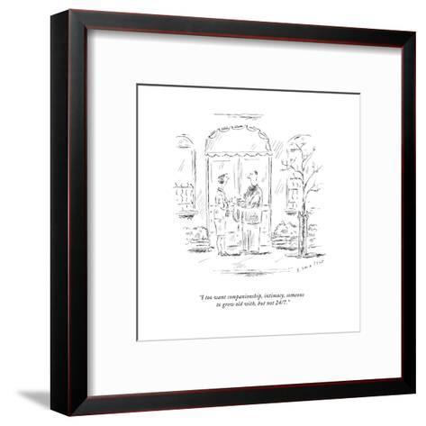 New Yorker Cartoon-Barbara Smaller-Framed Art Print