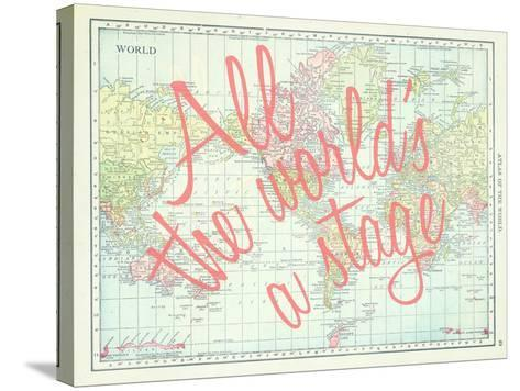 All the worlds a stage shakespeare 1913 world map giclee print all the worlds a stage shakespeare 1913 world map stretched stretched canvas print gumiabroncs Choice Image