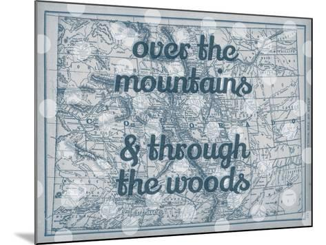 Over the Mountains & Through the Woods - 1890, United States, Colorado, North America, Colorado Map--Mounted Giclee Print