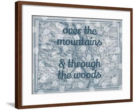Over the Mountains & Through the Woods - 1890, United States, Colorado, North America, Colorado Map--Framed Art Print